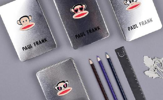 大嘴猴铁艺本:马口铁材质本皮,经典大嘴猴创意logo