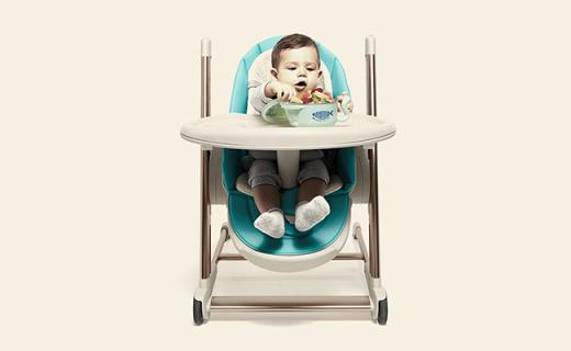 babycare 儿童餐椅:仿生?#35910;趨篮?#25252;,多角度调节孩子更舒适
