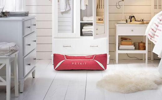 小佩记忆棉宠物窝:太空记忆绵除湿释压,凹槽造型十分可爱