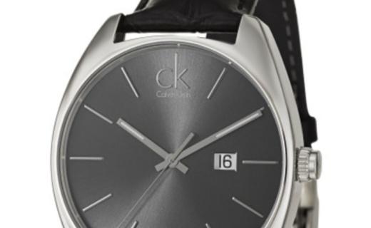 Calvin Klein男士石英手表:简洁夜光指针,日期显示,实用性强