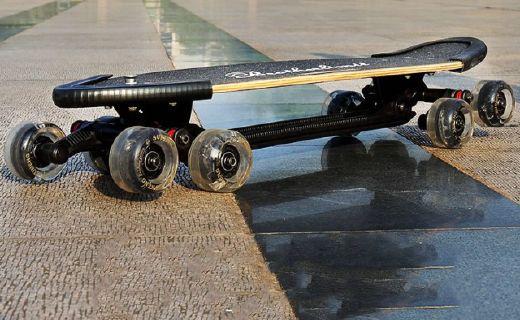 速能Allrover滑板:坦克驱动轮高度缓震,A级枫木耐磨抗压