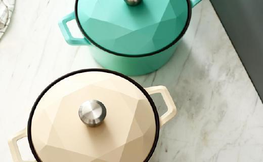 網易嚴選Carat湯鍋:陶瓷涂層安全耐用,鉆石設計高顏值