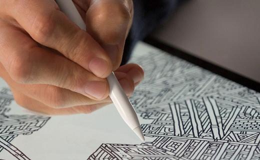 苹果Apple Pencil手写笔:一键连接完美适配,压感式触头精细书写