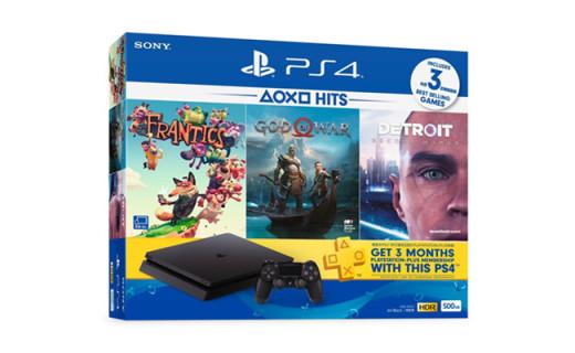 "PS4""HITS""套装将上线!附赠实体游戏+3个月PS Plus会员"
