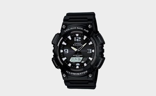 卡西歐光動能運動手表:光能充電方便實用,100米防水白菜價