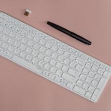 4臺設備輕松切換,手機平板也能用,雷柏E9350G刀鋒鍵盤