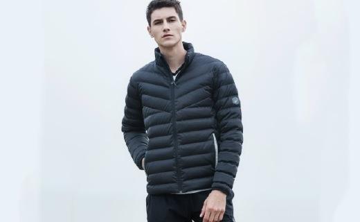 亞瑟士羽絨夾克:雙層面料防水保暖,冬天也能輕便出行