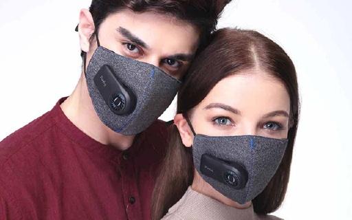 自帶新風系統的防霾口罩,告別濕熱憋氣