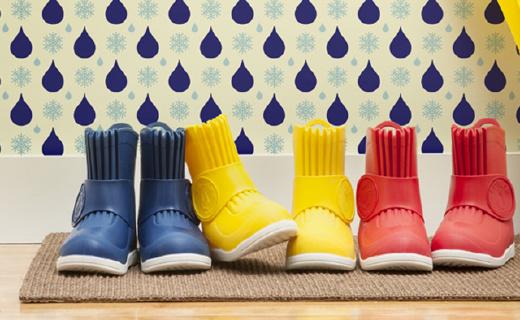 四季都能穿的超輕兒童雨靴,寶寶自己都能穿