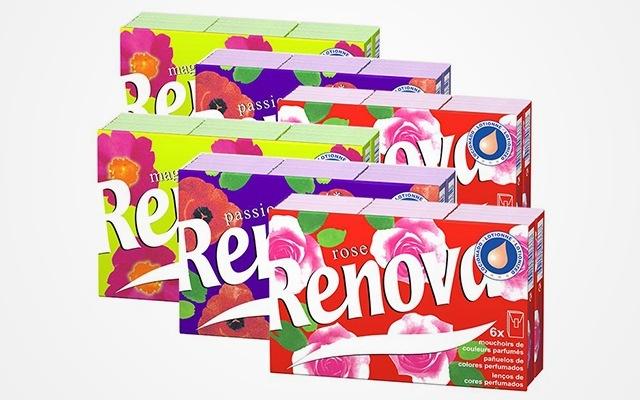 Renova瑞諾瓦彩色面巾紙