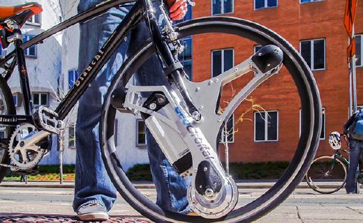 裝上這個不用打氣不怕扎的輪子,單車秒變電動車