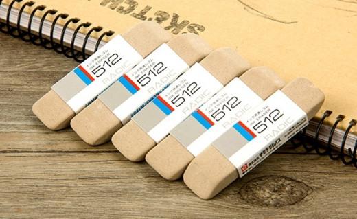 櫻花磨砂橡皮:磨損小不費力,可擦鋼筆和圓珠筆