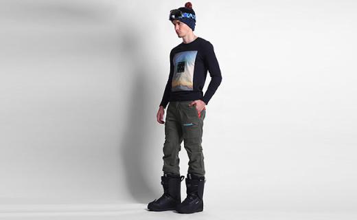 Quiksilver男士滑雪褲:加厚填充材質禁摔打,內置抗水防風裙