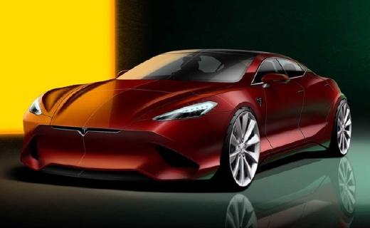 特斯拉新款Model S渲染圖曝光!極具未來風格,預計2021正式發布