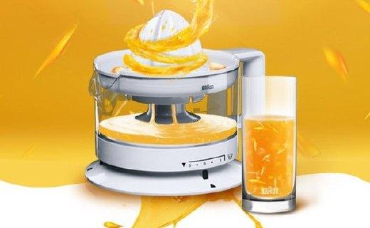 博朗柳橙機:大容量杯身防漏設計,輕輕松松自制橙汁