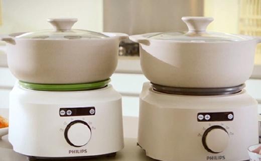 飛利浦電燉鍋:鍋體天然陶土手工制作,創新蒸凝技術
