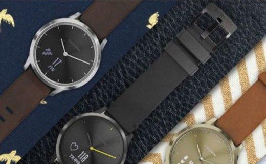 佳明智能时尚运动手表:隐藏式触摸屏,光学心率监测