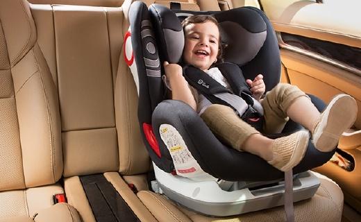 Savile儿童安全座椅:防偏头枕头设计,140°斜?#23665;?#24230;可调