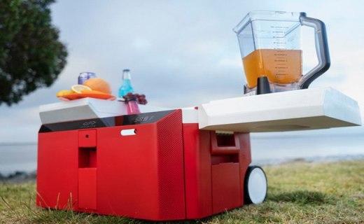 工具箱、冰箱、揚聲器三合一,超便攜冰箱搞定夏日狂歡趴體!
