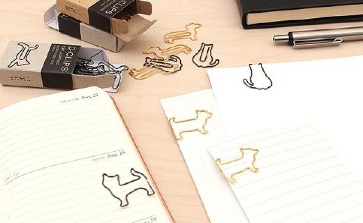 MIDORI D-clips回形针:蠢萌猫造型俏皮可爱,合金材质色调柔和