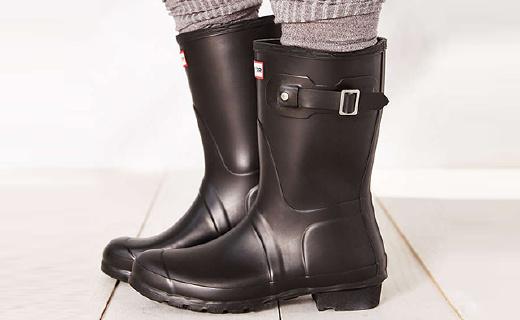 Hunter Original女士雨靴:英國王室御用品牌,天然橡膠手工制作