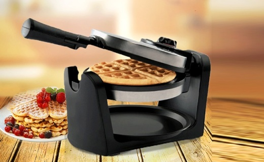 德乐意NC3687华夫饼机:3分钟快速制作易清洗,双面加热效率高