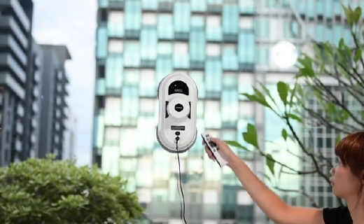 HOBOT擦窗機器人:真空吸附不掉落,MEMS智能規劃不留死角