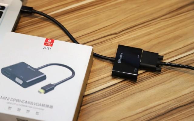 苹果本轻?#23665;?#22823;屏,毕亚兹雷电接口转HDMI/VGA转换器评测