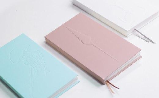 一本自然甲蟲筆記本:純色文藝外觀,百頁紙張不同圖案