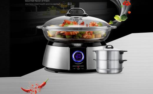 拓璞電蒸鍋:一鍋多用,火鍋、蒸箱、消毒統統都到鍋里來