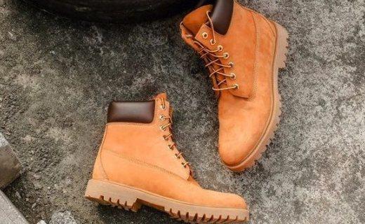 嚴選英倫工裝大黃靴:進口頭層水牛皮,防水透氣耐磨