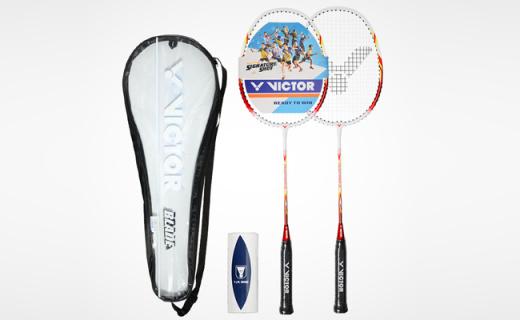 威克多羽毛球拍:魚嘴流線型前套,減少風阻手感更精準