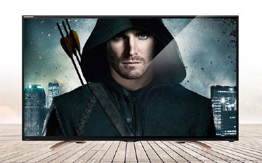 夏普55寸智能電視:4K超高清畫質,時尚窄邊,橋型底座