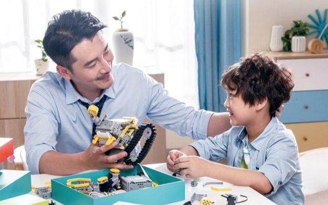 優必選 變形工程車 拼搭智能機器人