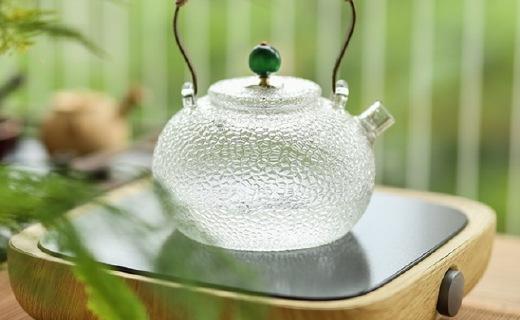 潮艺日式锤纹茶壶:壶身精致好看,耐热玻璃材质安全坚固