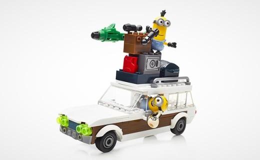 Mega Bloks Minions旅行度假車:小黃人主題,超多道具玩出花樣