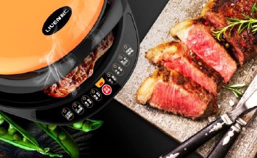 利仁双面电饼铛:进口涂层导热快易清洗,大烤盘全家都够吃