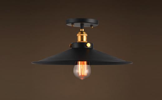 Turning复古吸顶灯:优质铁艺灯体,简约中透着温馨与个性