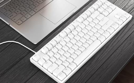 悅米機械鍵盤,87鍵TTC紅軸,鋁合金機身
