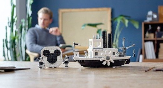 童年回憶來襲!樂高推出米奇威利號汽船模型,預計愚人節亮相