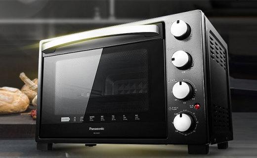 松下NB-H3201电烤箱:蒸烤烘焙?#25442;?#22810;用,大容量满足家用