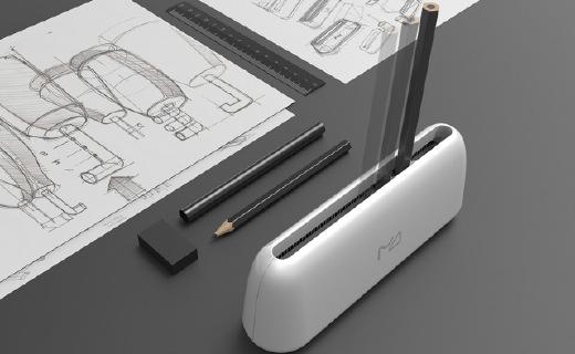 左右推拉削鉛筆,卷筆刀的顛覆設計!