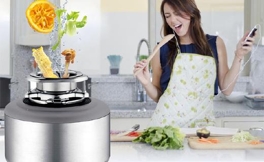 无刀片厨余垃圾处理机,做饭再也不用倒垃圾