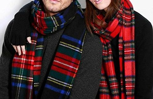 Johnstons of Elgin圍巾:美利奴羊毛,經典格紋時尚大方