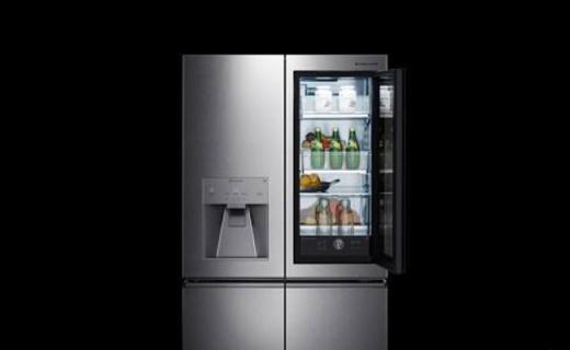 LG旗舰智能语音冰箱,29寸触摸屏还能变透明