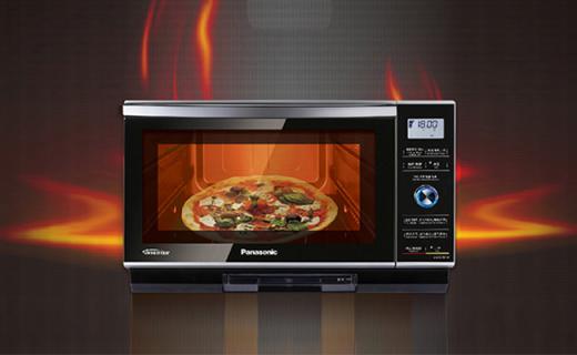 松下微波爐:蒸汽燒烤微波三合一,紅外溫控精準