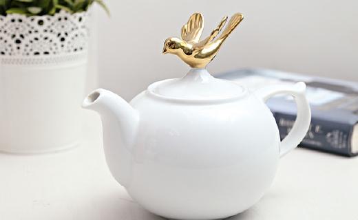 Topchoice陶瓷茶壶:优雅素净又吸睛,手感?#25913;?#33394;泽透亮