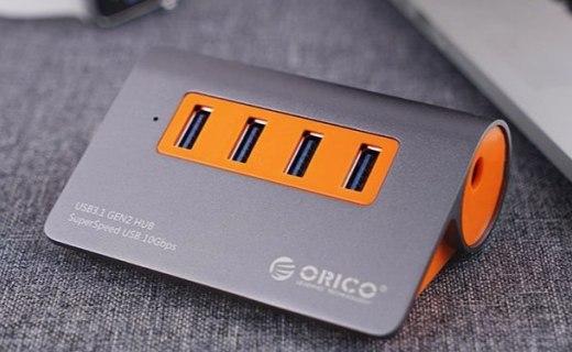 奥睿科USB集线器 :USB3.1接口畅快闪传,人性化工业设计简单方便