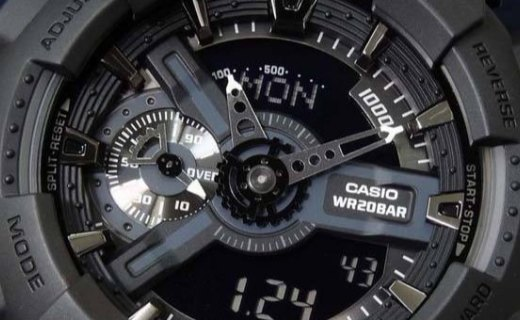 卡西歐石英男士手表:雙屏顯示防水防震,200M防水