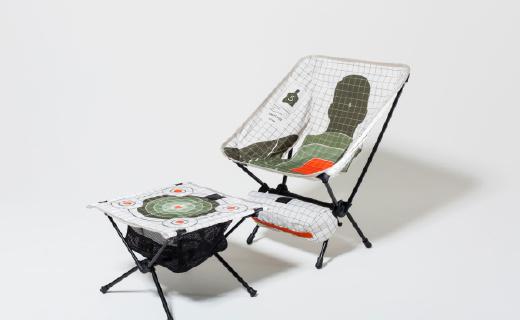 潮牌也爱军事元素,推出超时尚折叠桌椅